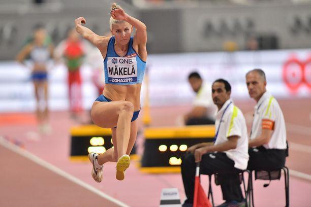 Kristiina Mäkelä jäi kolmiloikkafinaalissa viimeiseksi eli sijalle 12.