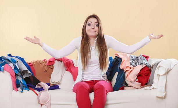 Onko uuden kaapiston ostaminen järkevää, vai pitäisikö sinun kuitenkin luopua niistä vaatteista, joita et ole moneen vuoteen käyttänyt?