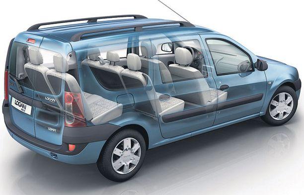 MUUTTUVAA. Logan MCV on monipuolisesti muuntuva edullinen perhetila-auto – jopa seitsemälle.