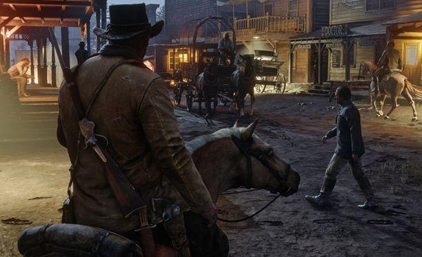 Pelissä ohjataan Arthur Morgania.