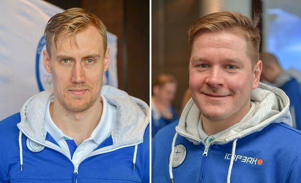 """Vuoden 2019 mestarijoukkueen kapteeni Marko """"Mörkö"""" Anttila ja Liigassa loistokauden pelannut Petri Kontiola ovat mukana leiriryhmässä."""