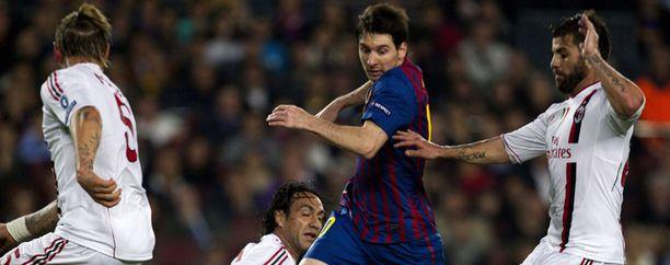 Lionel Messi pyöritti Milania.
