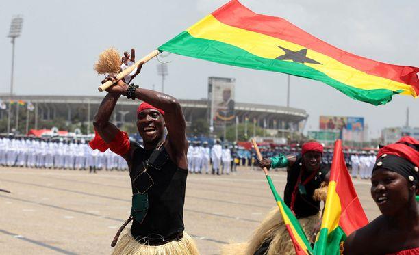 Itsenäisyyspäivän paraati Ghanassa.
