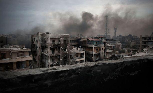 Aleppon kaupunki Syyriassa.
