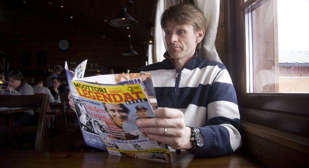 Marcus Grönholm vakuuttui Iltalehden Moottorilegendat-erikoislehdestä.