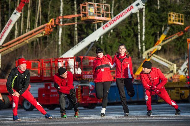 Janneniskan ja Pekkaniskan työntekijöitä kannustetaan liikunnallisuuteen sekä terveellisiin elämäntapoihin.