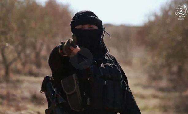 Kuvakaappaus Isisin tammikuussa julkaisemalta toiselta propagandavideolta.