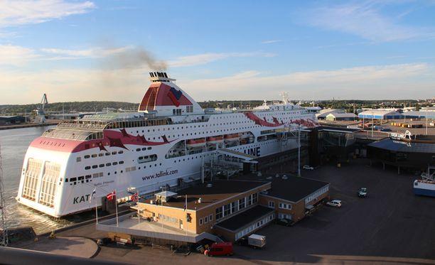 Tallink Siljan Baltic Princess -alus ei keskiviikkoiltana päässyt lähtemään Turun satamasta. Arkistokuva.