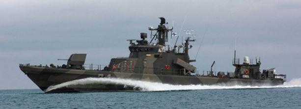 Rauma-luokan ohjusveneet on rakennettu 1990-luvun alussa.