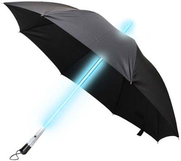 Tällä sateenvarjolla tulee nähdyksi myös pimeällä.