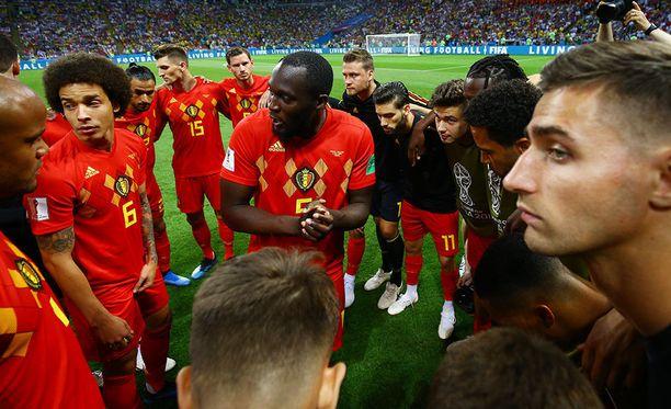 Romelu Lukaku valmistautuu pitämään jälleen yhden puheensa Belgian joukkueelle.