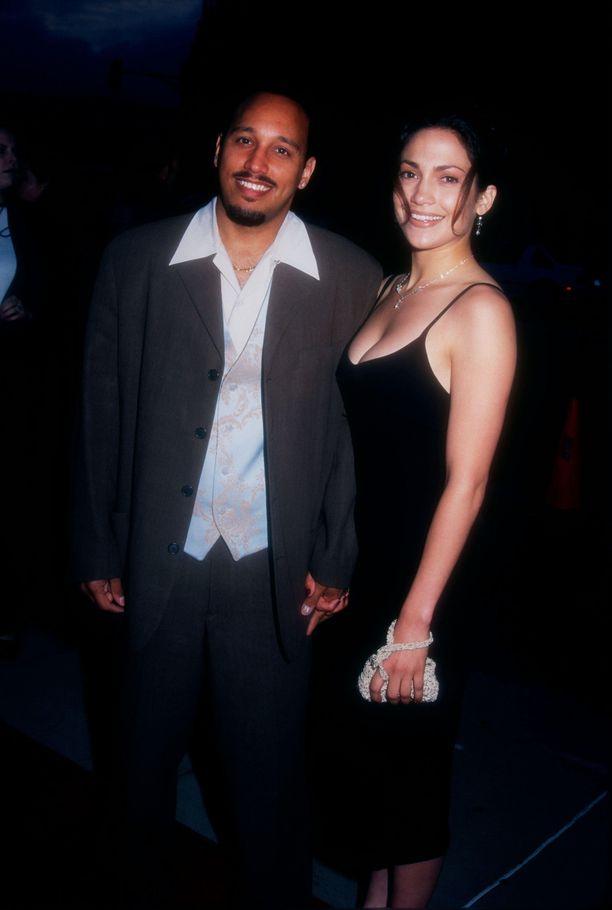 David Cruz ja Jennifer Lopez seurustelivat aikoinaan kymmenen vuotta. Kuva on vuodelta 1995.