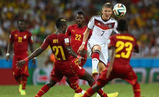Lakolla uhannut Ghana pelasi Saksaa vastaan mainiosti.