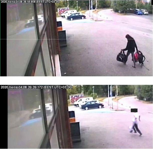 Äiti käveli kasseineen kauppaan soittaman hätäkeskukseen kello 08.39. Poika juoksi paikalle kello 09.41.