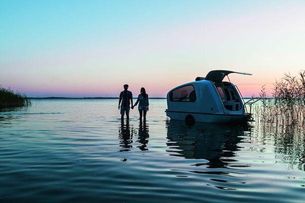 Amfibiperävaunu on jo myynnissä neljässä maassa.