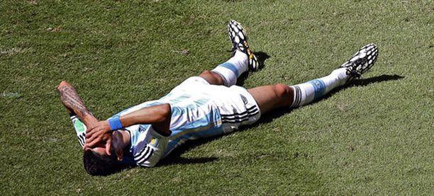 Angel Di Marían MM-kisat päättyivät puolivälierissä.