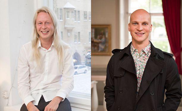 Petrus Pennanen (vas.) ja Riku Nieminen ovat tänään Susanne Päivärinnan vieraina.