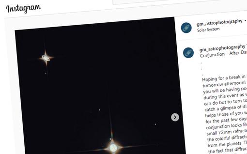 Jupiter ja Saturnus kohtasivat taivaalla – Tähtiharrastaja nappasi kaukoputkella ja kuminauhalla niin huikean kuvan, että sitä ei meinata uskoa aidoksi