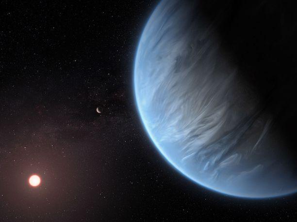 K2-18B -planeetta sijaitsee 111 valovuoden päässä Maasta.