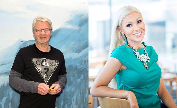 Pirkka-Pekka Petelius ja Maisa Torppa hyppäävät Duudsonien kanssa suihkuun.