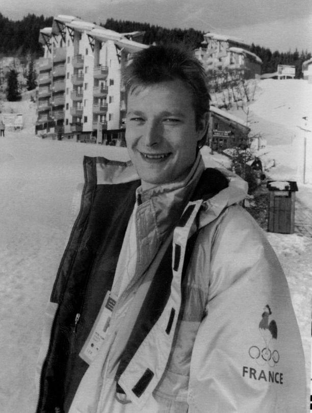 Petri Ylönen Albertvillen talviolympialaisten maisemissa 1992.