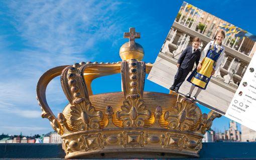 Ruotsin kansallispäivää vietetään poikkeusoloissa – pikkukuninkaalliset liputtavat somessa