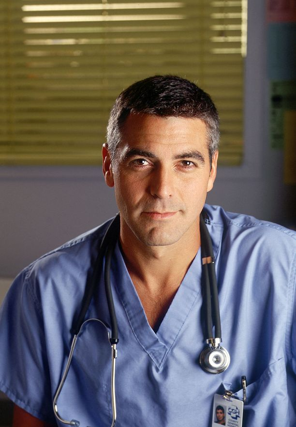 George Clooney teki läpimurtoroolinsa tohtori Rossina televisiosarjassa Teho-osasto.