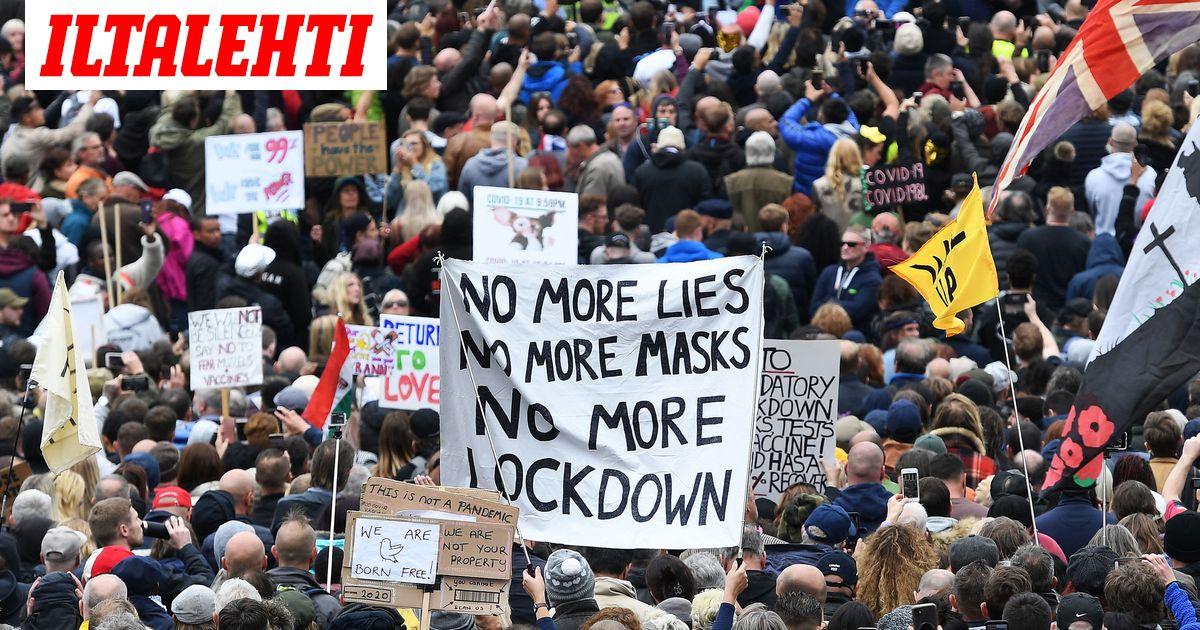 10 pidätettiin ja 4 loukkaantui mielenosoituksessa Lontoossa ...