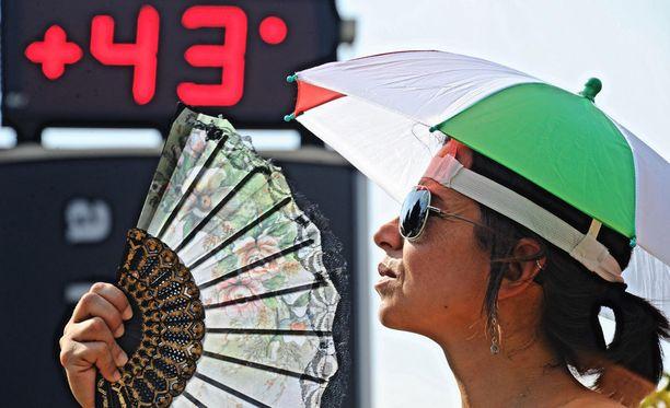 Keski- ja Etelä-Euroopassa oli tänänkin kesänä poikkeuksellisen lämmintä. Kuva Firenzestä viime elokuulta.
