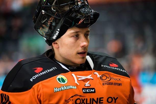 HPK:n Emil Larmi on tällä kaudella noussut raketin lailla liigavahtien terävimpään kärkeen.