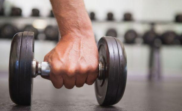 Terveysliikuntasuositusten mukainen lihaskuntoharjoittelu ei kasvata kaikkien muskeleita.