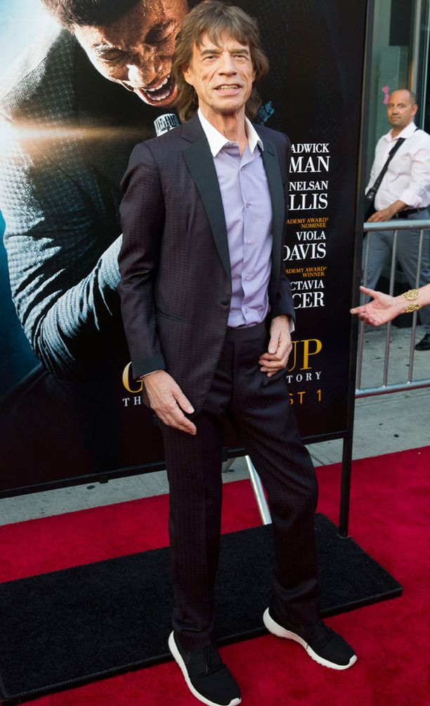 Mick Jagger viime kesänä Get On Up -elokuvan kutsuvierasnäytöksessä New Yorkissa.