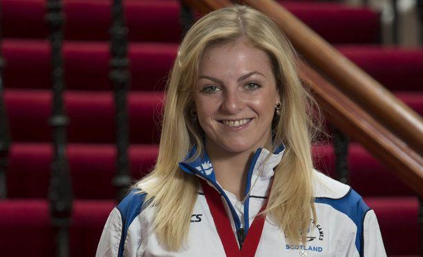 Stephanie Inglis voitti hopeaa Kansainyhteisön kisoissa 57-kiloisten sarjassa vuonna 2014.