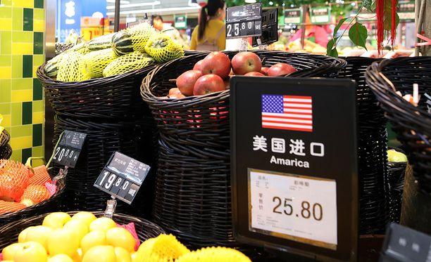 Kiina ilmoitti maanantaina tulleista amerikkalaisille tuontituotteille.