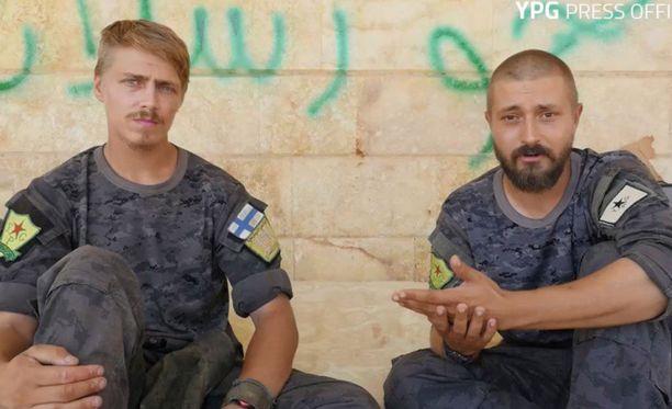 """Kuva ANF-sivustolta. Iltalehti kertoi """"Bakokin"""" (oikealla) taistelusta Syyriassa elokuun puolivälissä."""