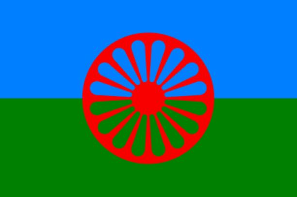 Romanien kansainvälinen lippu hyväksyttiin 1971 romanien ensimmäisessä maailmankongressissa, joka järjestettiin Lontoossa.