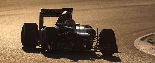 Romain Grosjean ajoi aamulla varovaisesti.