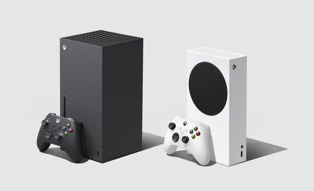 Xbox Series X (oik.) ja Xbox Series S (vas.).
