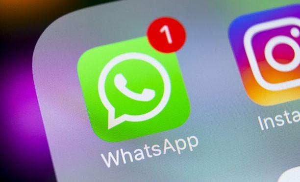 Whatsappia käytetään yhä aktiivisemmin.