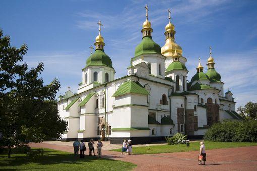 Pyhän Sofian katedraali on Ukrainan vanhin kirkko.