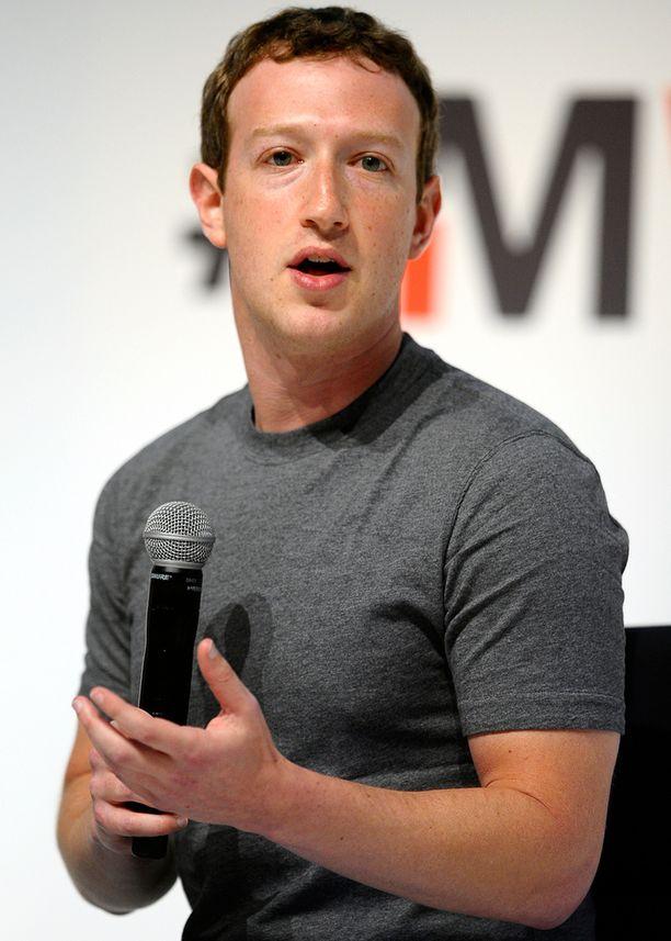Facebookin toimitusjohtaja ja perustaja Mark Zuckerberg puhui maanantaina Barcelonan mobiilimessuilla.