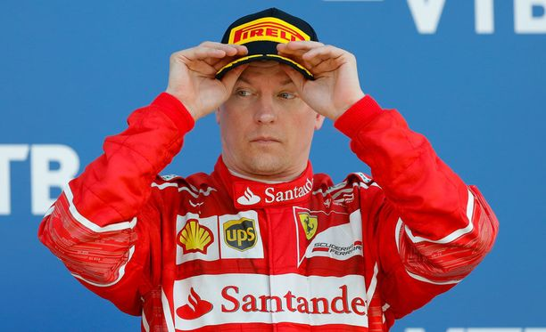 Kimi Räikkönen nousi Venäjällä ensimmäistä kertaa palkintopallille tällä kaudella.