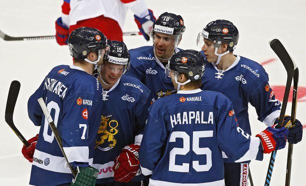 Miro Aaltonen on ollut Suomen EHT-kauden paras maalintekijä (6). Hän onnistui myös Venäjää vastaan sunnuntaina.