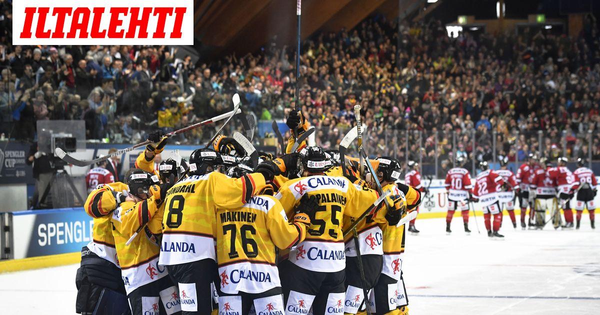 Jääkiekon Spengler-cup on peruttu  Suomesta oli lähdössä...