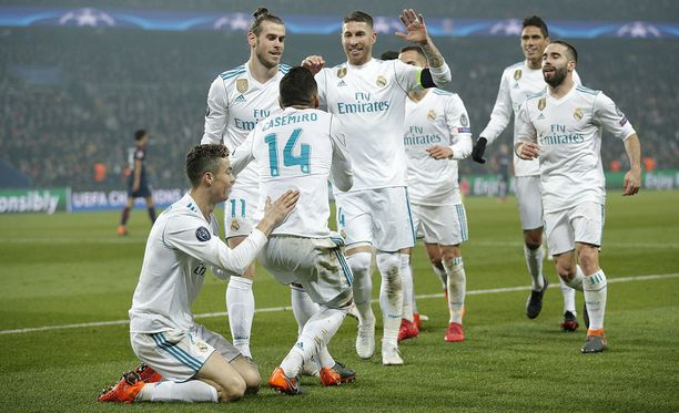Real Madrid voitti PSG:n lopulta varsin helposti.