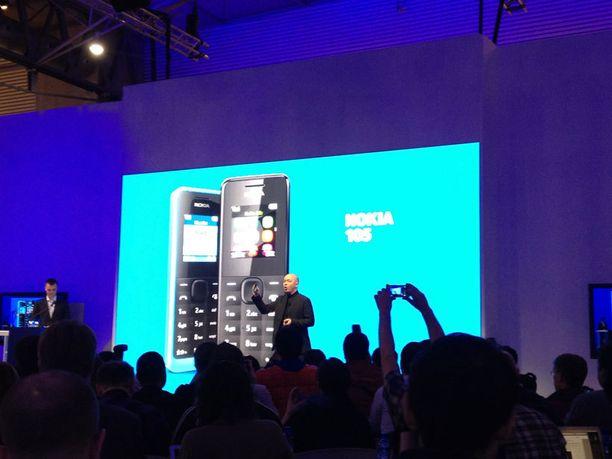 Tällainen on 15 euroa maksava Nokian 105-puhelin.