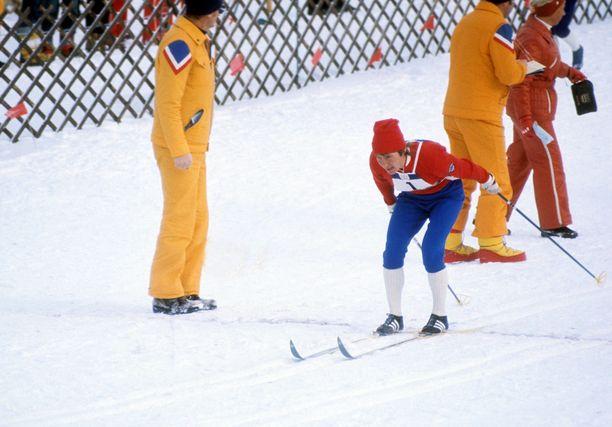 Nina Baldytsheva oli mukana voittamassa viestin olympiakultaa Innsbruckissa.