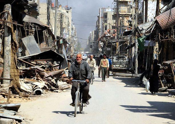 Douma oli viime viikkoon asti kapinallisten hallussa.