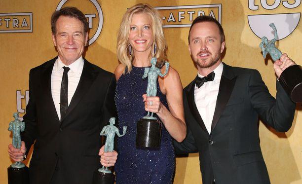 Breaking Badin näyttelijät palkittiin draamasarjan kategoriassa.