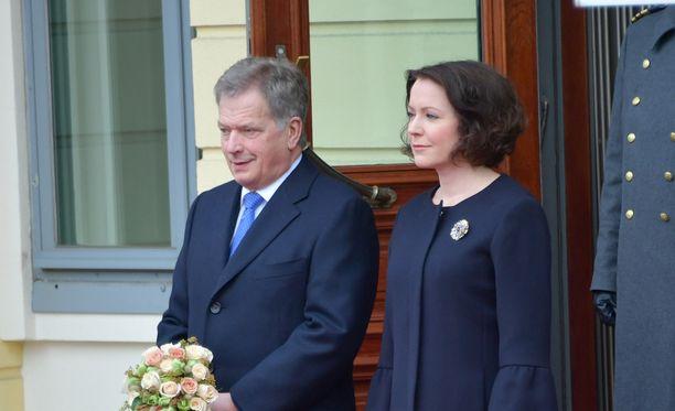 Presidentti Sauli Niinistö ja rouva Jenni Haukio isännöivät Puolan presidentin Andrzej Dudan ja tämän vaimon Agata Kornhauser-Dudan valtiovierailua.